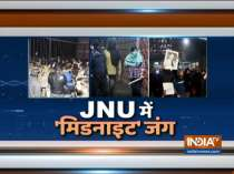 Students of FTII, AMU hold protest against the violence in JNU