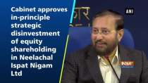 Cabinet approves in-principle strategic disinvestment of equity shareholding in Neelachal Ispat Nigam Ltd