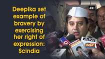 Deepika set example of bravery by exercising her right of expression: Jyotiraditya Scindia