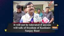 It will not be tolerated if anyone will talk of freedom of Kashmir: Sanjay Raut