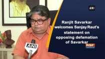 Ranjit Savarkar welcomes Sanjay Raut