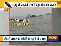 Boat submerged in Arabian Sea near Mumbai, 45 people including 10 crew members rescued