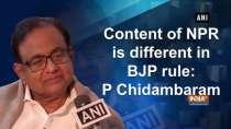 Content of NPR is different in BJP rule: P Chidambaram