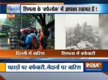 Fresh snow covers hills, rains lash Delhi-NCR