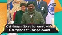 CM Hemant Soren honoured with