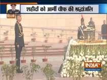 Army Chief General Manoj Mukund Naravane pays tribute at National War Memorial