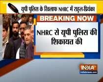 Priyanka Gandhi, Rahul Gandhi meet NHRC chief to file complaint against UP Police