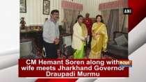 CM Hemant Soren along with wife meets Jharkhand Governor Draupadi Murmu