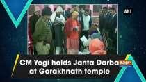 CM Yogi holds Janta Darbar at Gorakhnath temple
