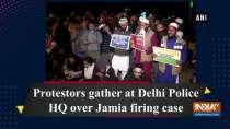 Protestors gather at Delhi Police HQ over Jamia firing case