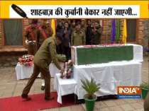 Srinagar: Jammu and Kashmir Police pays tribute to martyr SPO Shahbaz Ahmad