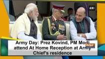 Army Day: Prez Kovind, PM Modi attend At Home Reception at Army Chief