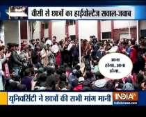 Jamia students call off protests after VC Najma Akhtar talks to JNUSU
