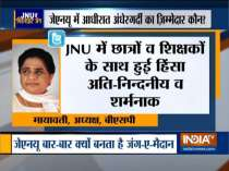BSP Chief Mayawati condemns attack on students and teachers inside JNU campus