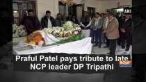 Praful Patel pays tribute to late NCP leader DP Tripathi