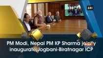 PM Modi, Nepal PM KP Sharma jointly inaugurate Jogbani-Biratnagar ICP