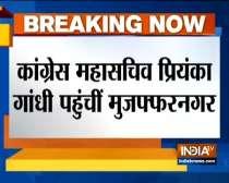 Priyanka Gandhi reaches Muzaffarnagar to meet CAA violence victims