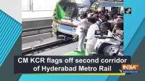 CM KCR flags off second corridor of Hyderabad Metro Rail