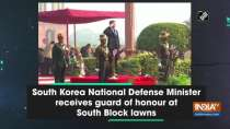 South Korea National Defense Minister receives guard of honour at South Block lawns