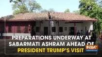 Preparations underway at Sabarmati Ashram ahead of President Trump