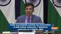 India successfully carried out evacuation of 640 Indian nationals: MEA