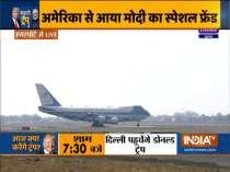 Namaste Trump   Air Force One lands in Ahmedabad