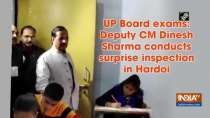 UP Board exams: Deputy CM Dinesh Sharma conducts surprise inspection in Hardoi