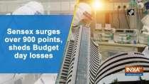 Sensex surges over 900 points, sheds Budget day losses