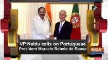VP Naidu calls on Portuguese President Marcelo Rebelo de Sousa