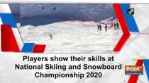 Players show their skills at National Skiing and Snowboard Championship 2020