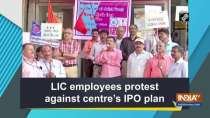 LIC employees protest against centre