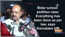 Bidar school sedition case: Everything has been done as per law, says Karnataka HM