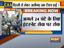 Internet suspended in Aligarh after anti-CAA protesters clash with police