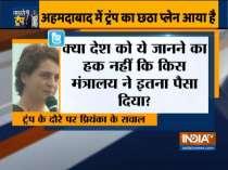 Priyanka Gandhi attacks govt over Trump