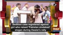 Sedition case registered against girl who raised