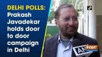 Delhi polls: Prakash Javadekar holds door to door campaign in Delhi