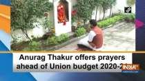 Anurag Thakur offers prayers ahead of Union budget 2020-21