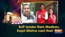BJP leader Ram Madhav, Kapil Mishra cast their vote
