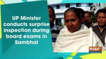 UP Minister conducts surprise inspection during board exams in Sambhal