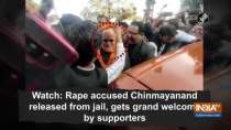 Watch: Rape accused Chinmayanand released from jail, gets grand welcome by supporters