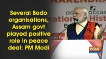 Several Bodo organisations, Assam govt played positive role in peace deal: PM Modi