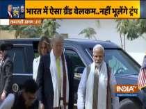 US President Donald Trump and First Lady Melania Trump visit Sabarmati Ashram