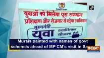 Murals painted with names of govt schemes ahead of MP CM