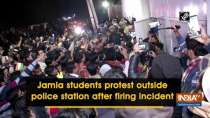 Jamia students protest outside police station after firing incident