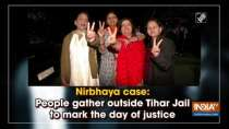 Nirbhaya case: People gather outside Tihar Jail to mark the day of justice
