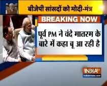 PM Modi talks about Vande Mataram during BJP parliamentary meeting
