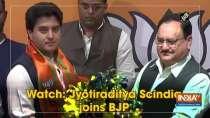 Watch: Jyotiraditya Scindia joins BJP