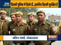 Delhi Police personnel who saved the life of nearly 150 people during bloody violence