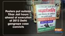 Posters put outside Tihar Jail hours ahead of execution of 2012 Delhi gangrape case convicts
