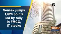 Sensex jumps 1,628 points led by rally in FMCG, IT stocks